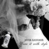 41777799 – young caucasian bride. black and white wedding picture.